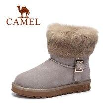 Camel europea invierno de las mujeres termales botas de nieve borla botas cálidas botas de piel