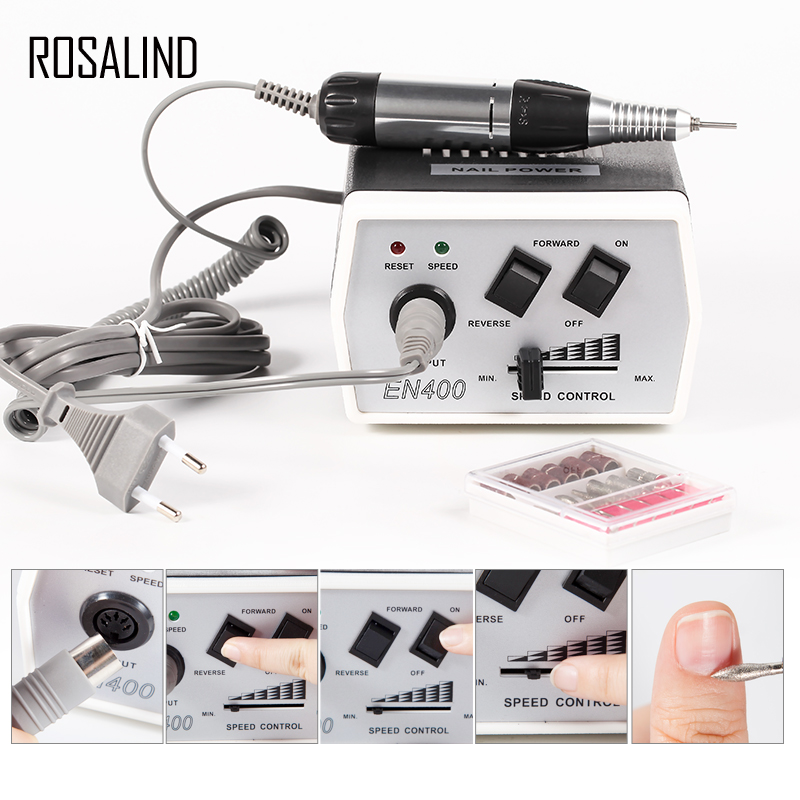 ROSALIND 35W 1 SET Electric Nail Drill Machine Nail Equipment Manicure Pedicure Files Electric Manicure Drill & AccessoryROSALIND 35W 1 SET Electric Nail Drill Machine Nail Equipment Manicure Pedicure Files Electric Manicure Drill & Accessory
