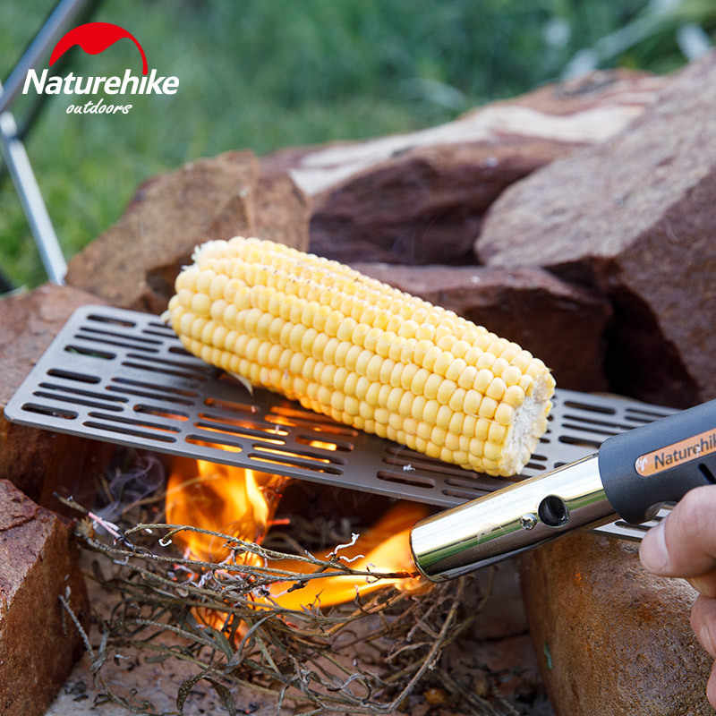 Naturehike grelha portátil para churrasco, grelha de titânio para churrasco, grelha e churrasco, novo, 2019