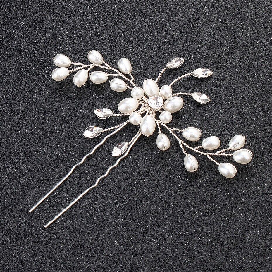 Pearl Bridal Hair Pins Pearl and Crystal Wired Bridal Hair Pins