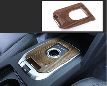 цена на Walnut Wood Style Car Interior Gear Shift Panel Cover Trim For Land Rover Discovery Sport 2015-2016 Car-styling