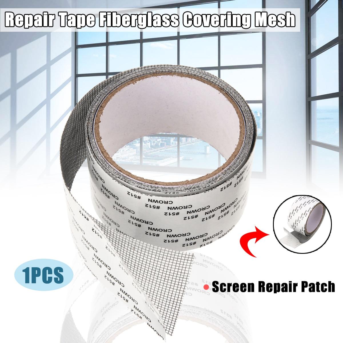 5x200cm Screen Patch Repair Kit Window Screen Repair Tape Fiberglass Covering Mesh Anti-Mosquito Mesh Sticky Wires Patch