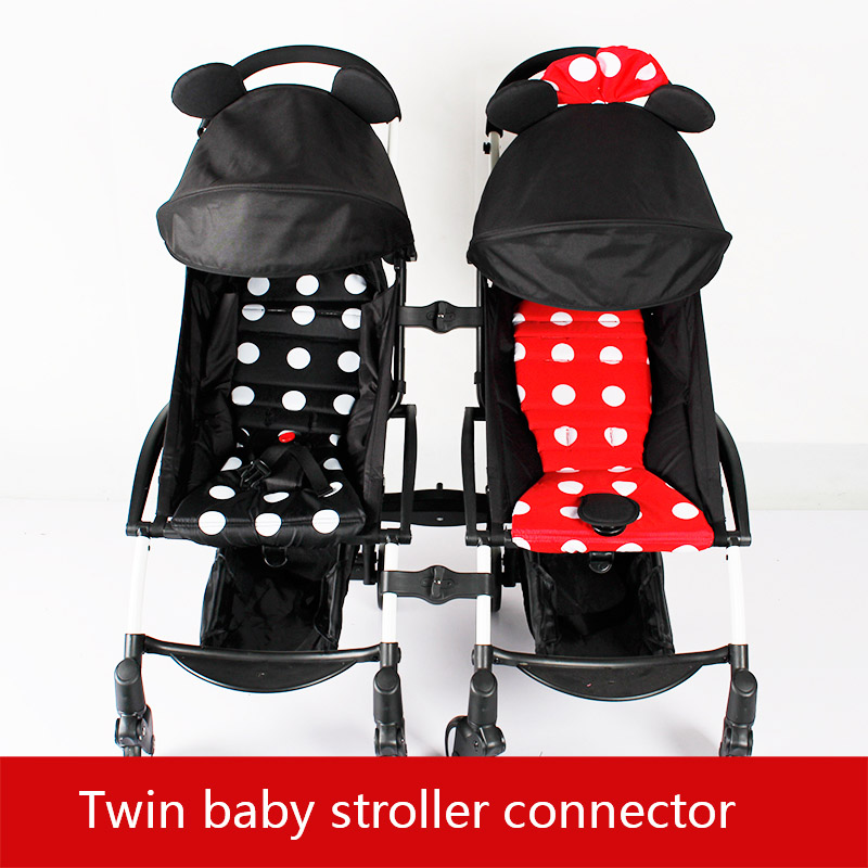 3pcs Connector Joint Linker Twin Baby Stroller Connector For Babyzen Yoyo+ Yoya Baby Throne stroller original baby stroller accessories 175 cushion seat brethable cloth linen material for yoya yoyo babyzen babythrone stroller