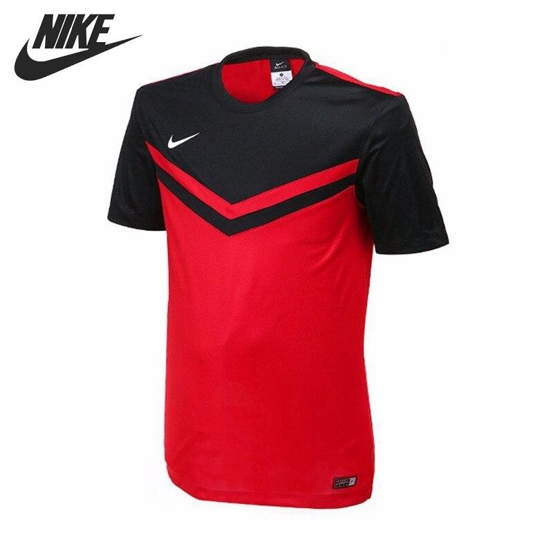 Original New Arrival NIKE DRI-FIT Men's T-shirts short sleeve Sportswear футболка беговая nike dri fit cool tailwind stripe short sleeve top