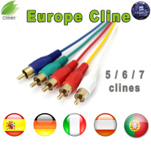 spain clines 1 Year HD Cline cable for Europe DVB-S2 Satellite tv Receiver 5/6/7 lines Support in Portugal Italy uk