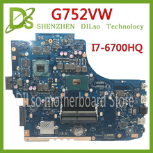 KEFU G752VW motherboar For ASUS GL752VW G752VW Laptop motherboard i7 6700HQ CPU with graphics card tested