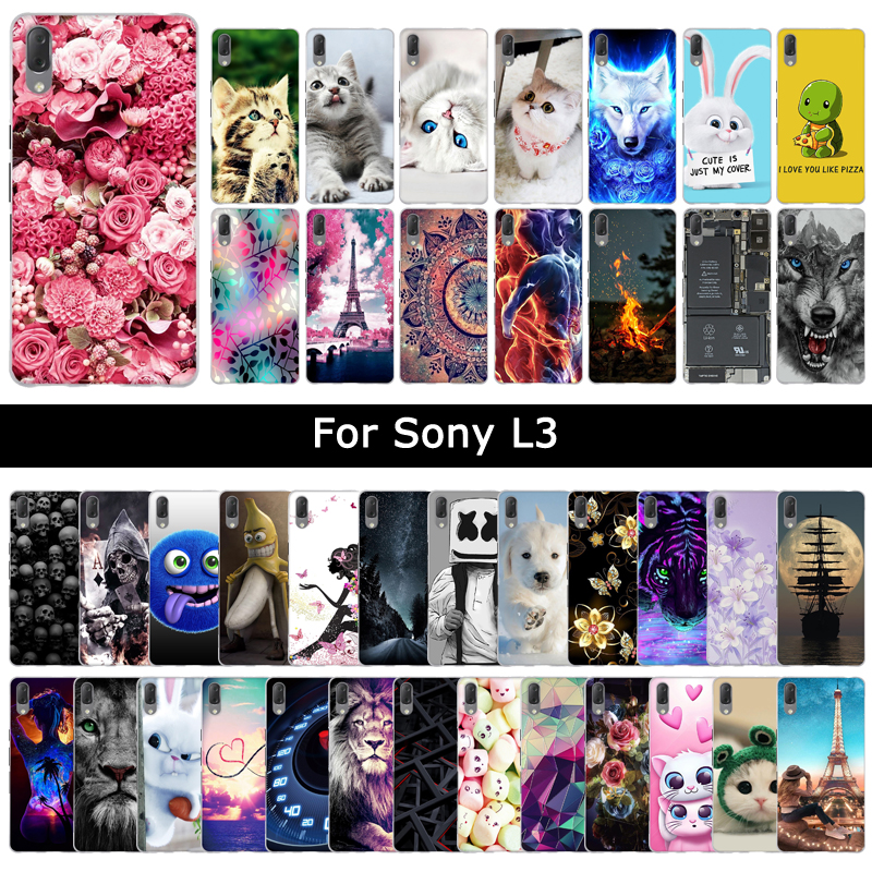 Colorful Fashion Case for Sony Xperia L3 L 3 Painting Soft TPU Silicone Back Covers Protective Cases Phone Shells Fundas Coque zwbra shower curtain