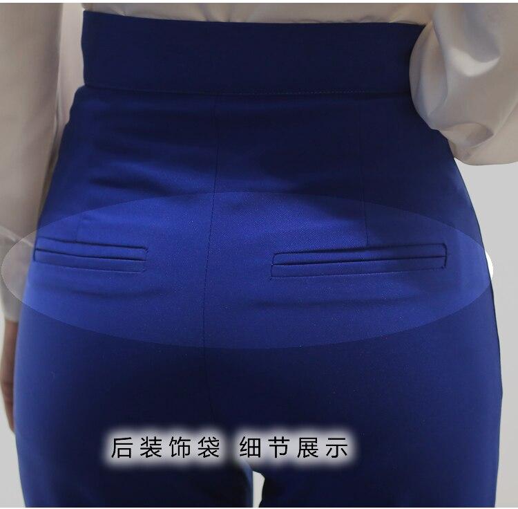 Pantalons Nouveau Été Printemps 79071 Taille Mode Femmes Haute Vêtements Bleu Et Filles Casual Grand 2018 Slim Odtxwq5OS