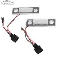2Pcs Car LED License Plate Light Auto Light Emitting Diode Number Plate Lamp For SKODA Octavia