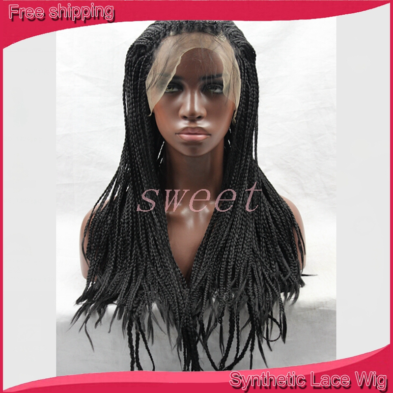 Lace Front Wig Box Braids Wig Baby Hiar Different Color