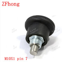 GN822 m10x1 pin 7 staal met zink index plunger pin