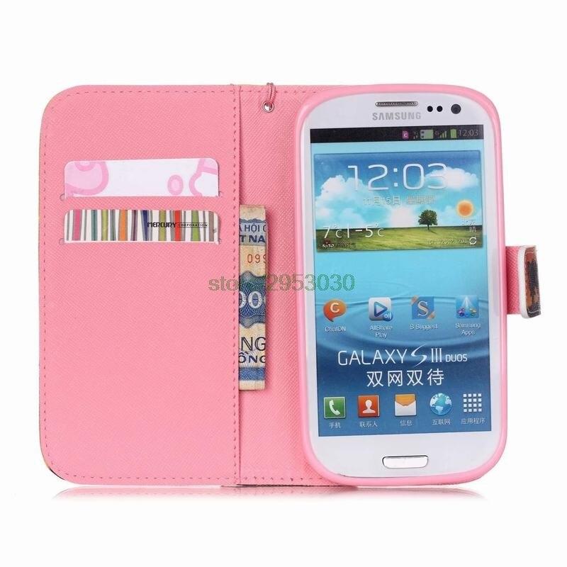 20762211931 Funda abatible de cuero para Samsung Galaxy S3 S3 Neo funda billetera GT  i9300 i 9300