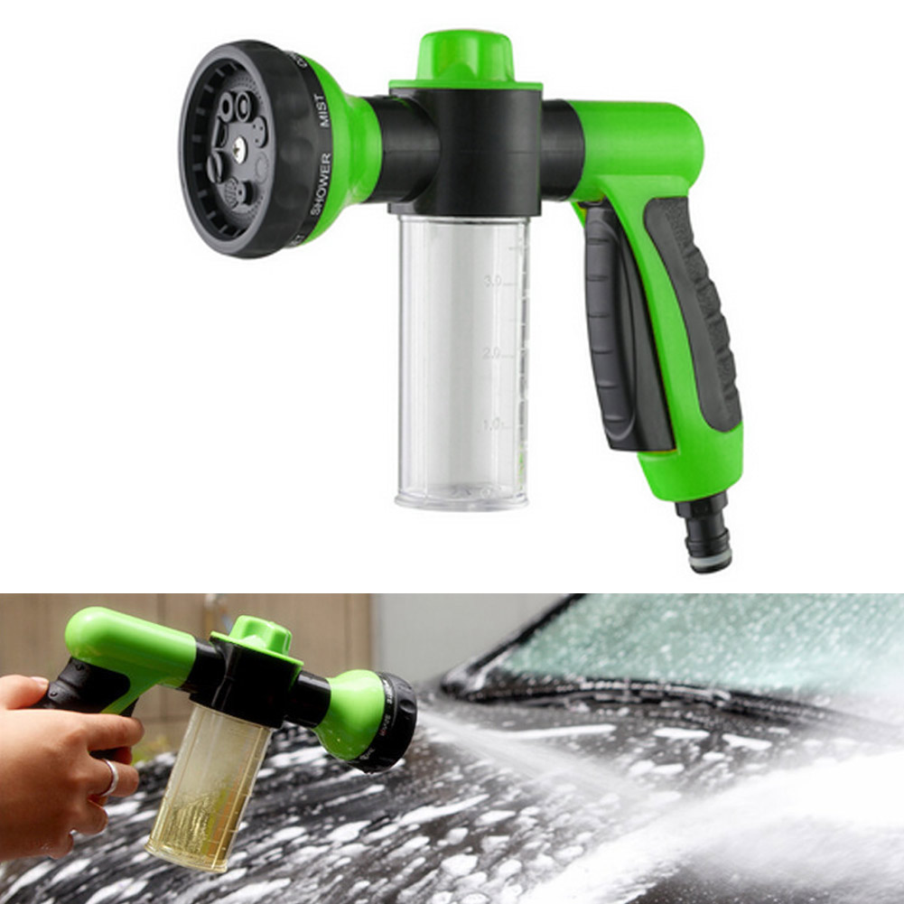 New arrival multifunction auto car foam water 8 spray pattern adjustable water gun high pressure for car wash watering tools