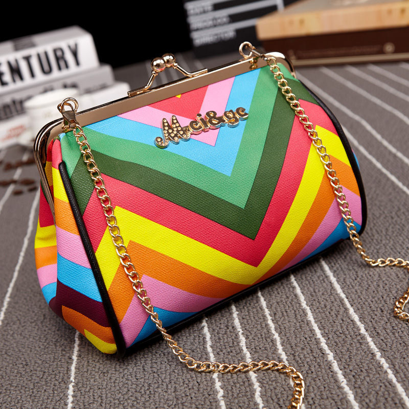 2017 Summer Candy Color Rainbow Bag Women Messenger Bags Cross Body Clutch Purse And Handbag Small Clutches Dollar Price In Crossbody From Luggage