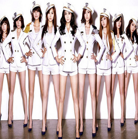 Girls Generation Costumes Fashion Sexy Navy Ds Lead Dancer Clothing Costume Wholesale Clothing