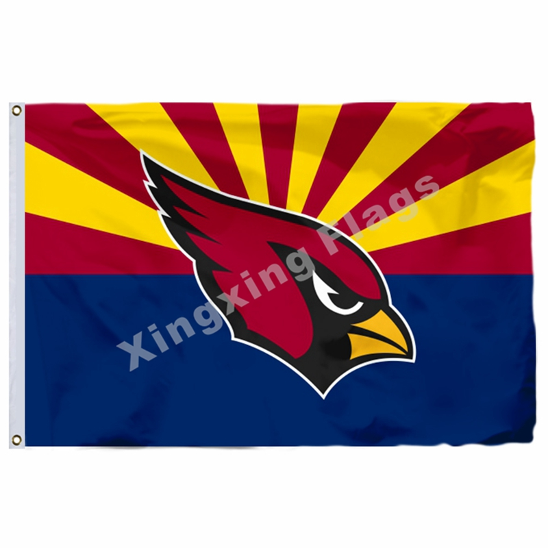 Arizona Cardinals Arizona State Flag 3ft X 5ft Polyester NFL1 Arizona Cardinals Banner Flying Size No.4 144* 96c