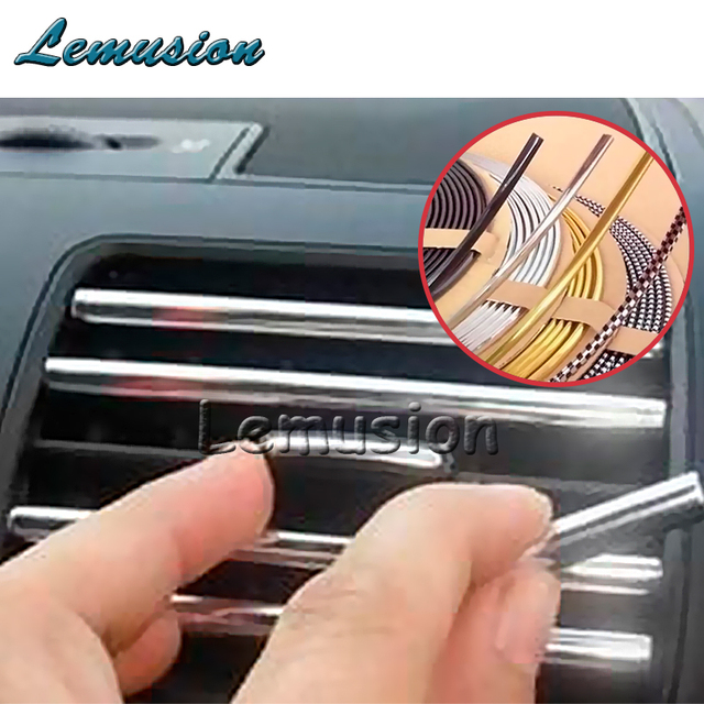 3m Diy Car Interior Mouldings Chrome Strip For Buick Seat Leon Ibiza