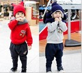 2015 Korean version of the children, boys and girls two-piece suit baby clothes winter models plus velvet David Tong Kit