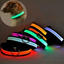 Новые СВЕТОДИОДНЫЕ Нейлона Pet Ошейник Ночь Безопасности Glow мигающий Собака Кошка Ошейник Светодиодные Светящиеся Маленьких Собак Ошейники USB аккумуляторная