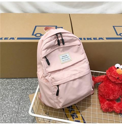 HTB1 0B6XQL0gK0jSZFAq6AA9pXa3 Nylon Backpack Women Backpack Solid Color Travel Bag Large Shoulder Bag For Teenage Girl Student School Bag Bagpack Rucksack