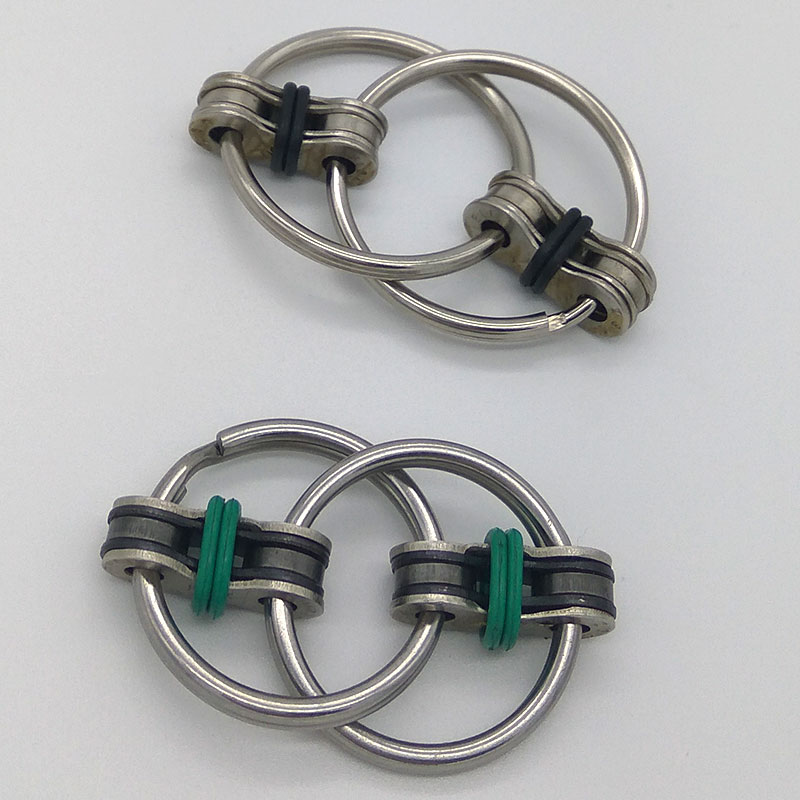 Key Ring Hand Spinner Fidget Ceramic Bearing Reduce Stress Toy Keyring