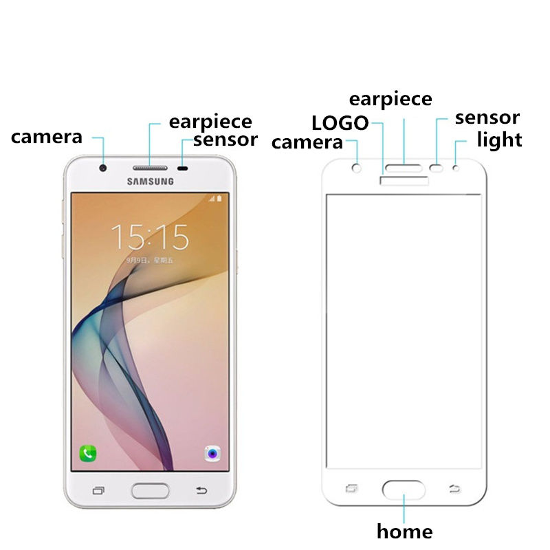 Full cover Tempered Glass for samsung Galaxy J7 Prime J 7 J7prime 5 5 inch Screen Protective Black frame all edge in Phone Screen Protectors from Cellphones Telecommunications