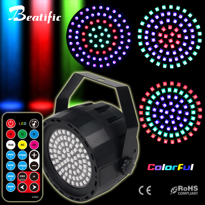 RGB Disco Light DMX LED Par Soundlights DJ Music Center Color Party Stroboscopes Lights For Home Stage