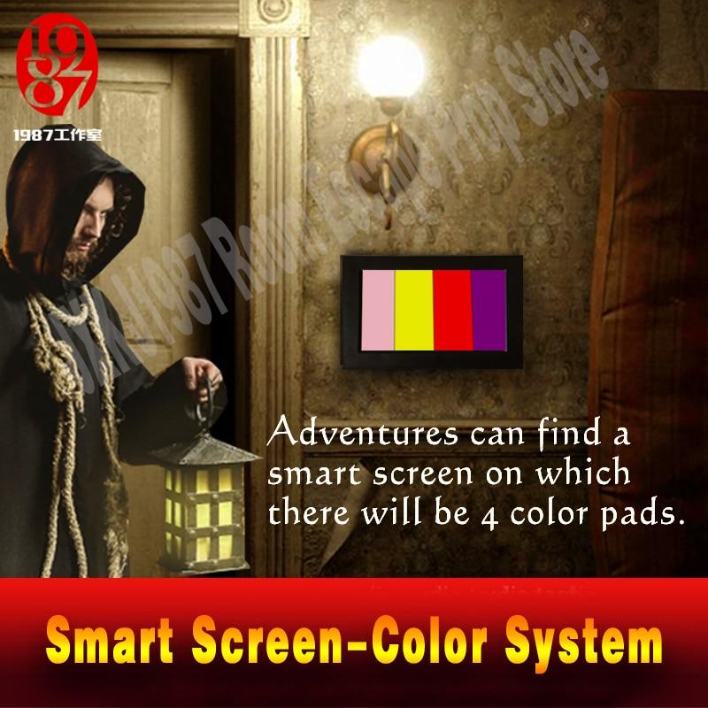 Реалити «Побег из комнаты» Опора цветной пазл приложение умный экран , настройте Цвет pad направо цвет, чтобы разблокировать побег камеры уйти - 2