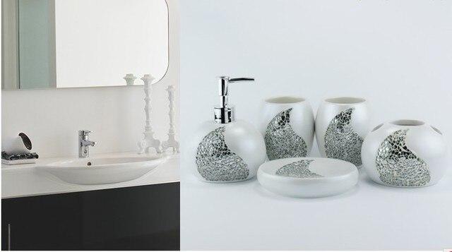 free shipping luxury European palace Wedding gift bathroom suite resin bathroom accessories resin handicraft hotel supplies