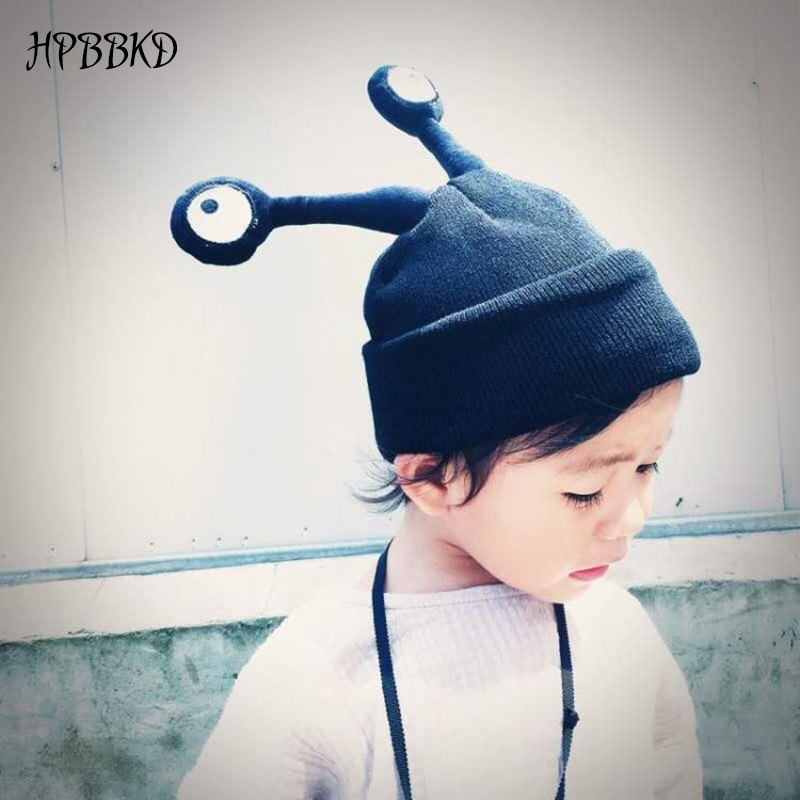 HPBBKD New Fashion Winter Warm Baby Eyes Hats Baby Cap For Children Winter Knitted Hat Kids beanies Brand Boy Girls Hat GH389