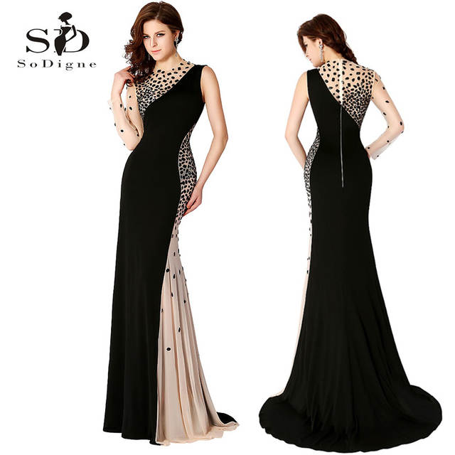 placeholder Long Gown Black Evening Dresses Mermaid Dress One-shoulder  Rhinestones Evening Gowns Elegant 2018 Sexy e3bc5b5457db
