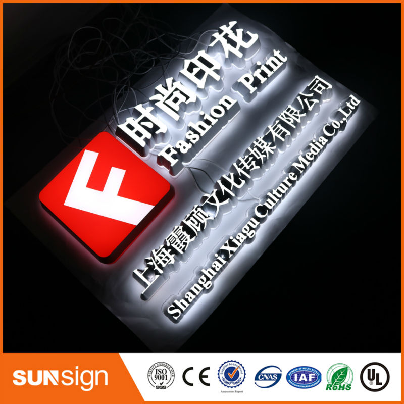 New Arrival Waterproof Acrylic Led Signs Letters Outdoor Customized Advertising Open Signs Wholesale