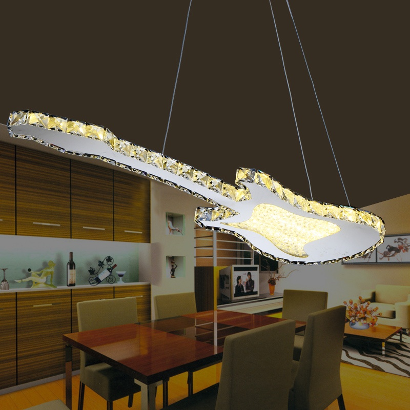 dining room bedroom lighting NEW  God creative personality LED crystal Pendant Light modern minimalist dining room hanging ZCL modern crystal chandelier hanging lighting birdcage chandeliers light for living room bedroom dining room restaurant decoration