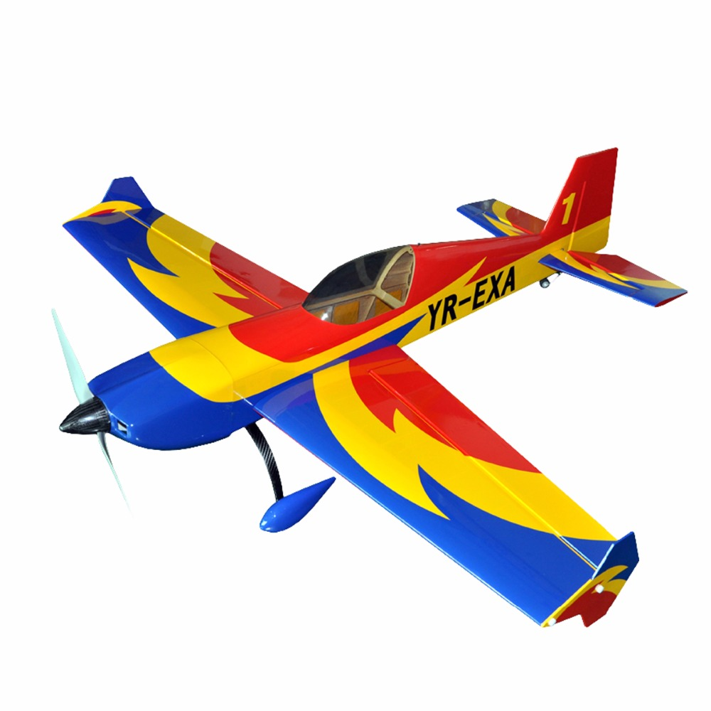 Electric plane extra 330 57 4 channels oracover film large scale rc balsa wood