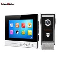 Intendvision Video Intercom Color 7'' LCD Screen Wired Video DoorPhone Audio Intercom with 700TVL CMOS Door Bell V70Rm M4