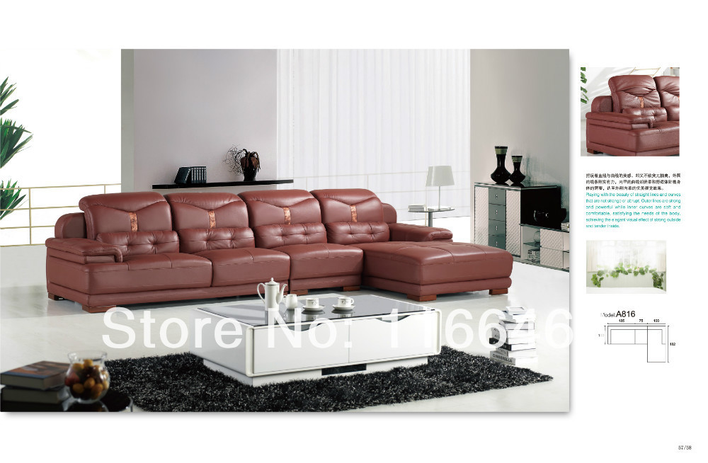 Fashion Simple Style Leather Sofa For Living Room