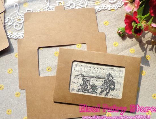50pcs kraft cover for postcard greenting card cover diy kraft paper photo framehong kong