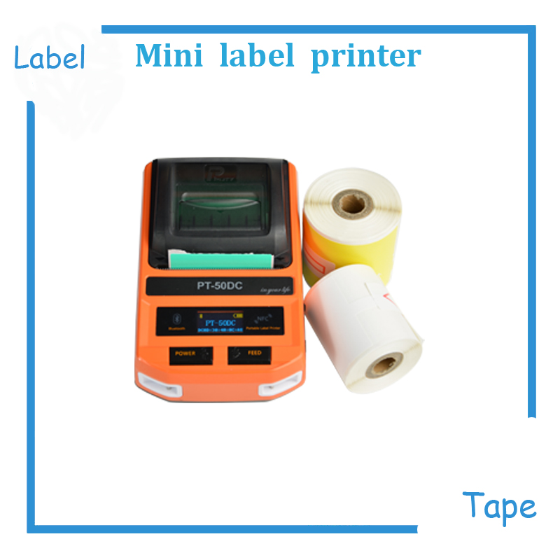 Mini Max 2 inch paper label tape printer machine print ribbon maker machine for T-type cable label, F-type cable label mini thermal label printer label printing machine with usb bluetooth for network cabel tail cable flat cable check cable etc