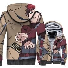 hot Anime Uzumaki Naruto hooded hoodies SABAKUNO GAARA 3D Printed jackets men thick wool liner sweatshirts 2019 winer swag coats men thick wool liner tracksuits harajuku hot 2018 winer 3d printed swag coats uzumaki naruto jackets anime naruto hooded hoodies