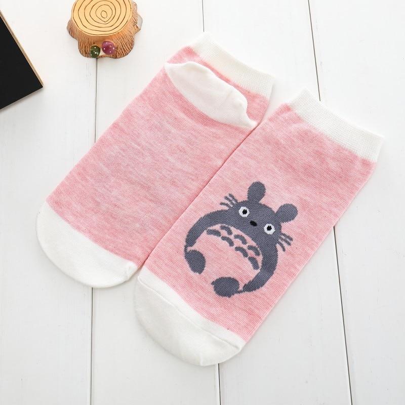 Shallow Mouth Solid Color Cotton Short Sock Cartoon Totoro Breathable Comfortable Women Fshion Short Sock in Socks from Underwear Sleepwears