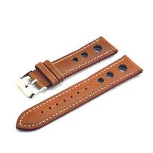 High Quality Genuine Leather Watch Strap Replacement for Women Man Watch Band 18mm 20mm 22mm Strap Belts Watchband Brown KZ3H03 все цены
