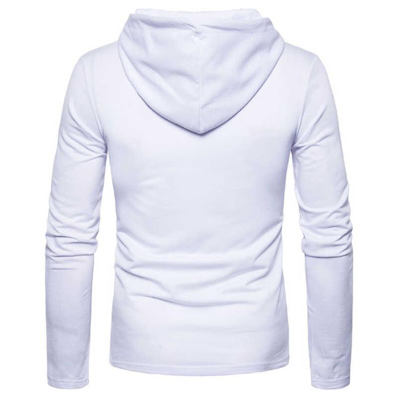 2019 gruesas sudaderas con capucha de los hombres de la moda de primavera Casual sólida Sudadera con capucha de lana de los hombres de las mujeres/Polluver Sudadera con capucha Sprotswear cremallera blusa