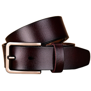 Image 3 - Fashion genuine leather belts for women Luxury designer pin buckle belt female Quality second layer cow skin strap Width 3.3 cm