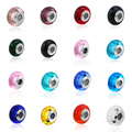 New 925 Sterling Silver Murano Colourful Faceted Glass Charms Style Diy Bead Fit Women Pandora Style Diy Bracelets
