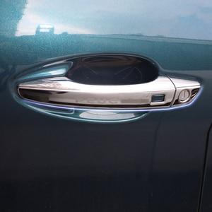Image 4 - Paslanmaz Çelik Dış kapı kulp kılıfı etiket koruma kapağı harici modifikasyonu Peugeot 5008 3008 2017 2018 2019