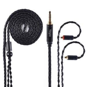 Image 4 - AK Yinyoo 8 ядра Модернизированный посеребренный Медь кабель 3,5 2,5 мм кабель для наушников с MMCX 2Pin для ZSTZS10AS10ZSX C12 V2 BLON TRN