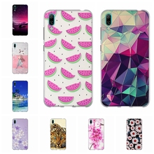 For Huawei Enjoy 9 Case Ultra-slim Soft TPU Silicone Cover 3D Floral Patterned Enjoy9 Funda Coque