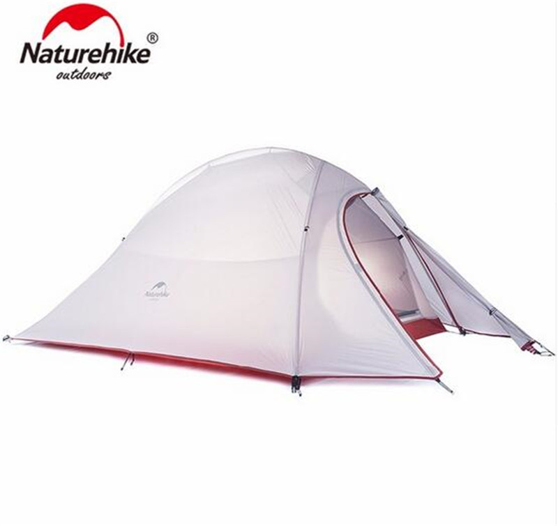 Naturehike Tent 20D Silicone Fabric Ultralight 2 Person Double Layers Aluminum Rod Camping Tent 4 Season With Mat naturehike 3 person camping tent 20d 210t fabric waterproof double layer one bedroom 3 season aluminum rod outdoor camp tent