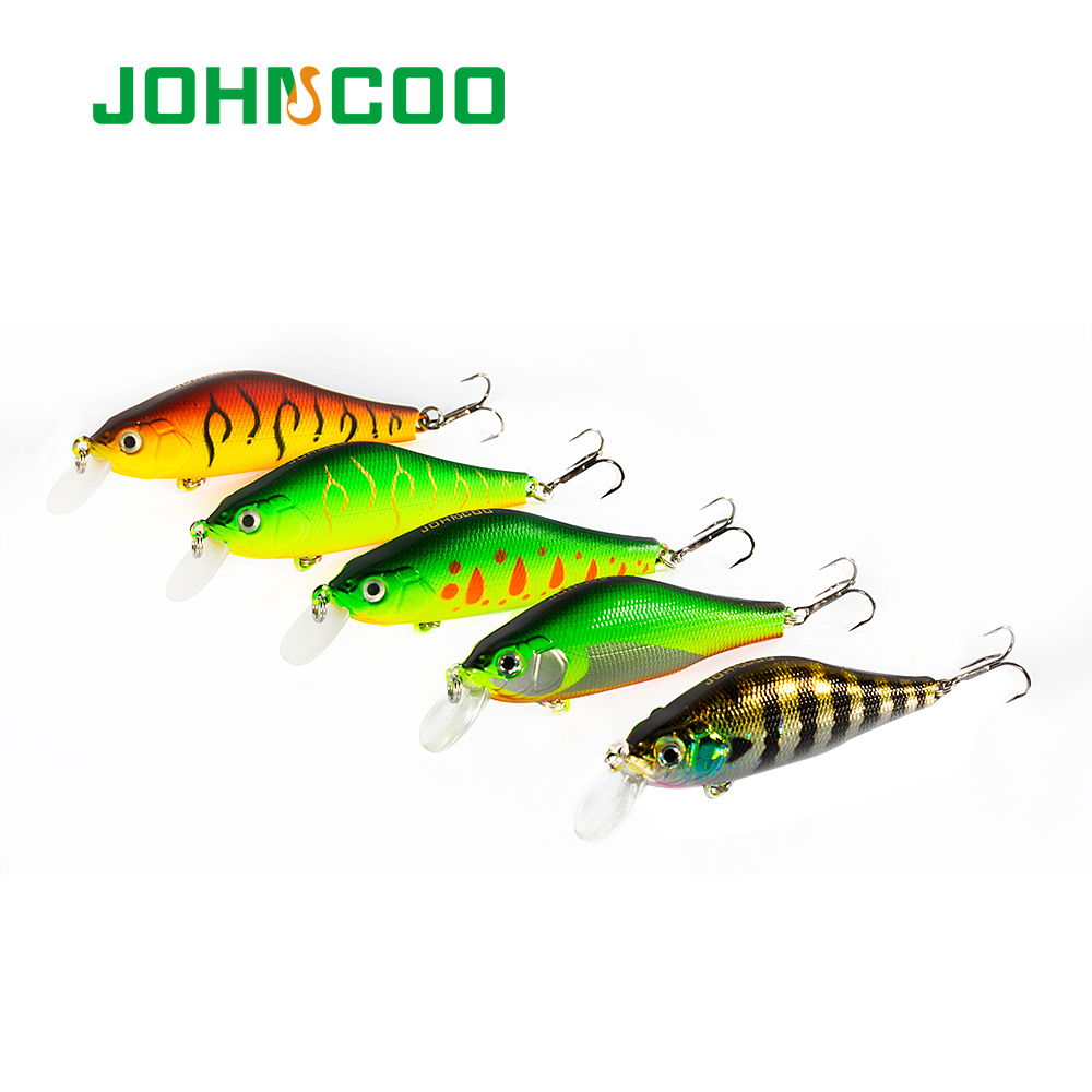 JOHNCOO Hard-Bait Wobbler Perch Fishing-Lure Bass Vmc-Hook Khamsin with Magnetic-System title=