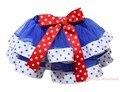 4-го Июля Синий Белый Звезда Подстриженные Танцульки Балетной Пачки Младенца Юбки Девушки Красный Лук NB-8Y